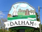 Photograph of the Dalham village sign